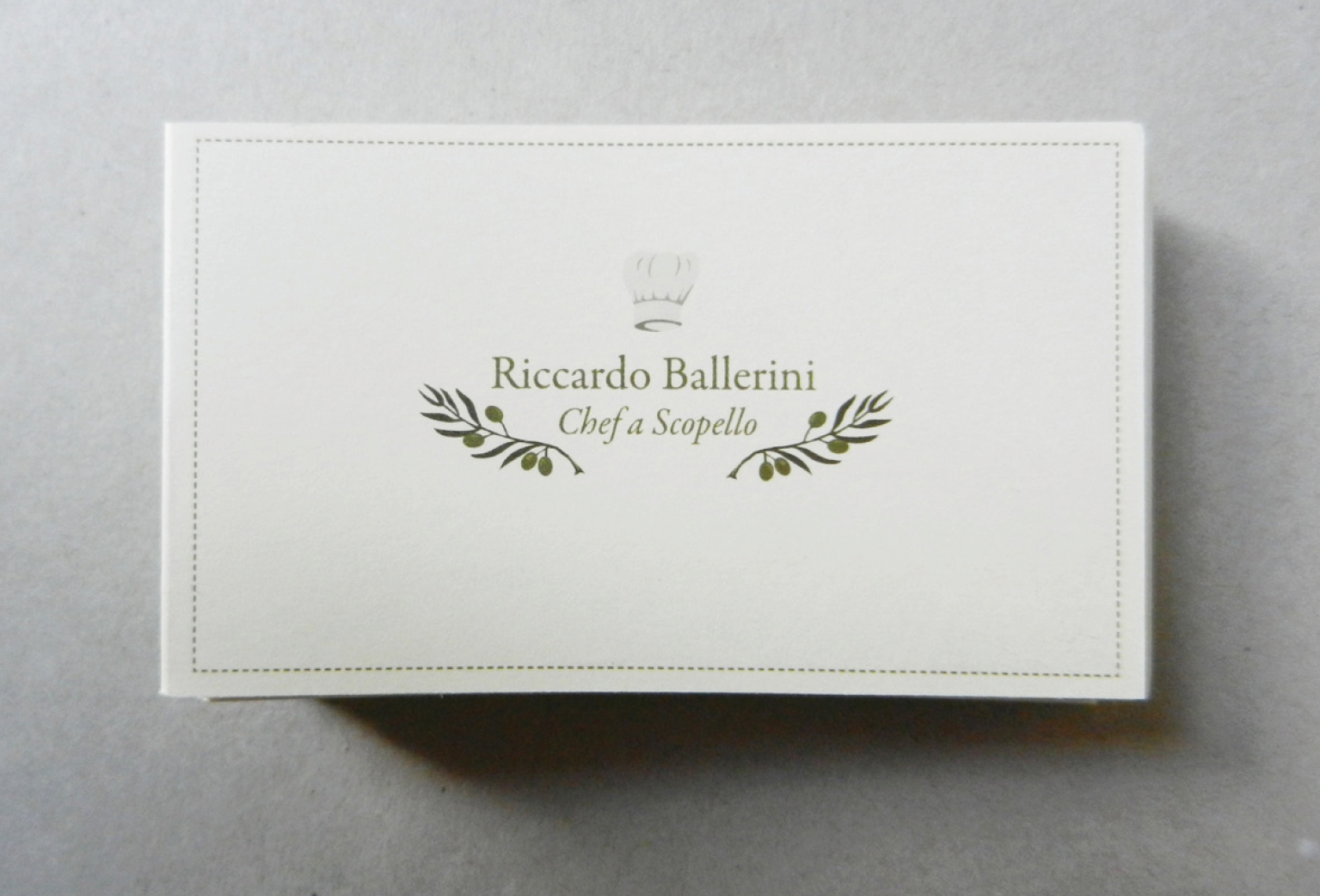 ci, cd and business cards forthe independente executive chefriccardo ...